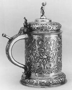 Tankard, early 17th c. German, Nuremberg.  Silver gilt