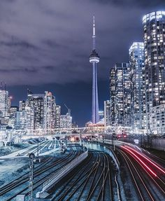 Best travel for Sale with Online Shopping Toronto Skyline, Toronto City, City Lights At Night, Night City, Torre Cn, Toronto Ontario Canada, East Coast Road Trip, City Aesthetic, City Photography