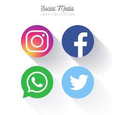 Discover thousands of copyright-free vectors. Graphic resources for personal and commercial use. Social Media Buttons, Social Media Logos, Logo Facebook, Facebook Marketing, Logo Circulaire, Instagram Video Views, Kreis Logo, Network Icon, Circular Logo