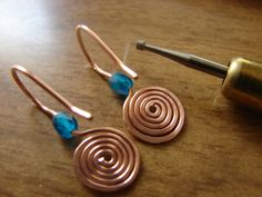 Spiral Head Pins and Simple Spiral Earrings – Free Tutorial