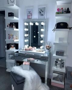 Dressing room goals from home of ishy featuring our Alicia Hollywood Mirror Vanity Mirror with Lights Illuminated Makeup Mirror Light Up Makeup Mirror Hollywood Mirrors Home Room Design, Room Makeover, Room Ideas Bedroom, Room Inspiration Bedroom, Home Decor, Stylish Bedroom, Room Decor, Room Decor Bedroom, Dressing Room Decor