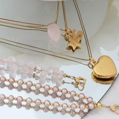 #layerednecklaces #layeredbracelets #gold #boho #dainty #long #choker #pearl #gemstone