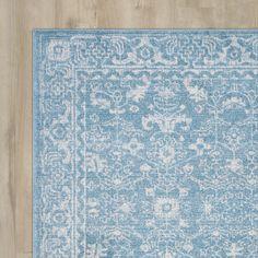 Rosalind Wheeler Ikin Light Blue/Ivory Area Rug You'll Love   Wayfair
