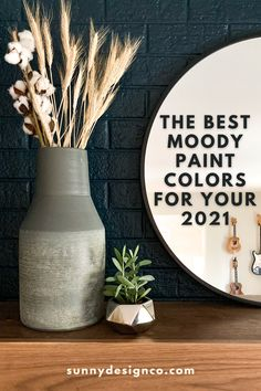 Paint your wall BOLDLY with these tried and true moody colors that will making anything pop. Easy Diy Projects, Home Projects, Accent Wall Colors, Boho Diy, Diy Tools, Vintage Home Decor, Paint Colors, Good Things, Pop