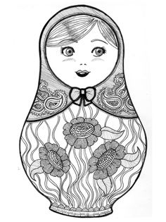 Matryoshka Coloring Page Winter Olympics Crafts For Kids