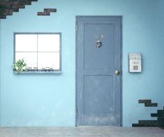 ヴィンテージウォールのドアの先はメイクルームになっております。