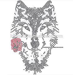 Afbeeldingsresultaat voor rhinestone patterns wolf