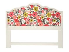 Floral Upholstered Headboard Flea Market Flip