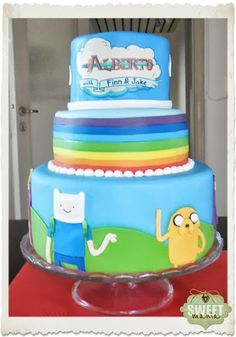 107 Best Adventure Time Cakes Images On Pinterest Adventure Time
