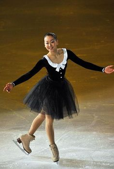 MAO ASADA - BlackFigure Skating / Ice Skating dress inspiration for Sk8 Gr8 Designs.