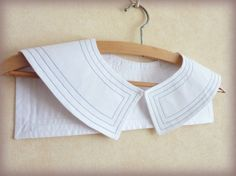 White Sailor Cotton Poplin Collar