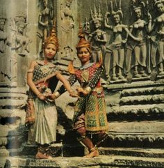 """Dancers in Cambodia - """"Travel is fatal to prejudice, bigotry, and narrow-mindedness, and many of our people need it sorely on these accounts. Broad, wholesome, charitable views of men and things cannot be acquired by vegetating in one little corner of the earth all one's lifetime."""" The Innocents Abroad, Mark Twain"""