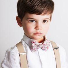 Noeud papillon Enfant Eloise rose clair Le Colonel Moutarde Bretelles beige  enfant Bertelles 3c9403e6f1f