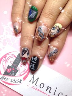 black butler nail art kuroshitsuji black butler nail