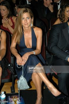 Jennifer Aniston during 55th Annual Primetime Emmy Awards - Backstage and Audience at The Shrine Auditorium in Los Angeles, California, United States.