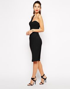 Image 1 of Love One Shoulder Body-Conscious Dress