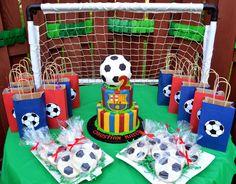 Flickr Soccer Birthday Parties, Football Birthday, Birthday Party Themes, Football Soccer, Party Fiesta, Festa Party, Barcelona Soccer Party, Barcelona Football, Messi Birthday
