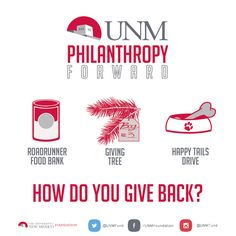 Interesting ways the UNM community is choosing to give back this holiday season. To learn more visit: http://bit.ly/1GuuDzW