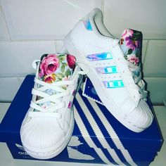 low priced fc183 6ec6e UK Store Sale shoes Adidas Superstar Stripes Iridescent Floral Wholesale, Adidas  Superstar With Multiple Choice Colors, Different Series Here On Off!