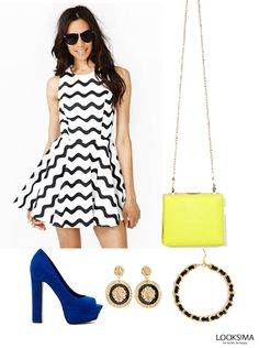 Try the graphic and color blocked trend on your evening affair!