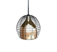 Cage, by Diesel with Foscarini, is a pendant lamp that is inspired by the lamps of miners and workers, protected by a metal cage. Cage becomes a decorative element, thanks to its artisan craftsmanship, evidenced by irregular structure, and the colors that characterize it. Made of blown glass and lacquered metal and characterized by a chromed rod in the Cage hanging version the light is directed onto the surface below. Light source:1x105W E27 Halogen bulb or fluorescent 1x20W E27 (not…