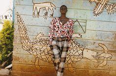 Vivienne Westwood A/W '11 collection shot in Kibera, Kenya featuring Kenyan model Ajuma