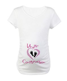CafePress White Under Construction Maternity V-Neck Tee - Women & Plus | zulily