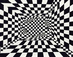 Element of Art: Lines Principle of Art: Repetition Optical Illusion Paintings, Cool Optical Illusions, Art Optical, Op Art, Hard Edge Painting, Composition Art, Principles Of Art, Illusion Art, Photography 101