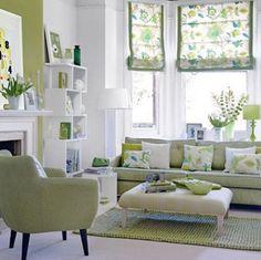 como decorar una sala con paredes verdes - Google Search
