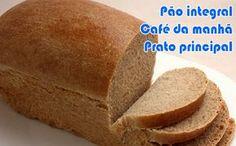 Receita de pão integral com farelos de aveia e trigo, ótimo para a dieta dukan.