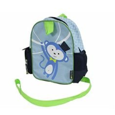 Itzy Ritzy Preschool Happens Little Kid Backpack with Harness Blue Monkey Reusable Lunch Bags, Toddler Backpack, Cat Sweatshirt, Precious Children, Kids Backpacks, Child Safety, Toddler Boys, Women's Accessories, Diaper Bag