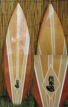 TIKI SOUL DECORATIVE SURFBOARD ART - Native  Surfboard decor, beach decor, surfer, decorative surfboard wall art