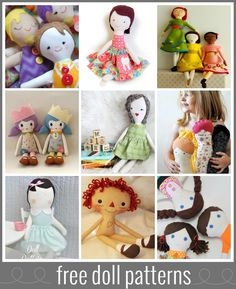 A collection of high-quality free doll patterns to sew and enjoy!