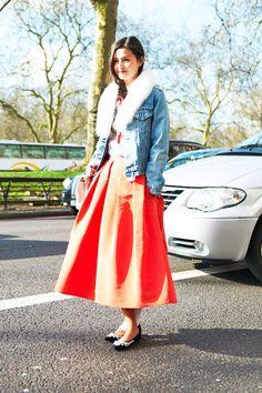 Jacket: Vintage Skirt: TibiShoes: Manolo Blahnik   - ELLE.com