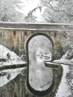 Snow covered bridge over the Shropshire Union Canal, Brewood, Staffordshire, England All Original Photography by http://vwcampervan-aldridge.tumblr.com Please visit my other blog, I can reblog your photos there -http://st4rtedlate.tumblr.com