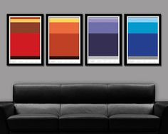 Minimalist Gas Giants Layers Posters - Jupiter, Saturn, Uranus & Neptune (Print 278) - 13 X 19 Home Decor