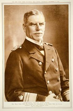 """"""" Admiral Count Von Spee. Who Went Down With His Flagship, the Scharnhorst, in the Battle With the British Squadron Off the South American Coast."""" 1914"""