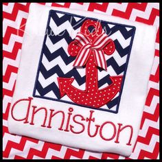 Anchor's Away Monogram Shirt on Etsy, $22.00 aww how cute would this be for my girls!!!