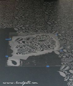 The Best Floor Stencils And Stenciled Floor Tips - Lovely Etc.