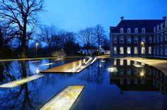 Hageveld Estate, & Ornamental Pond on top of the underground car park | Architects: Hosper | Location: Heemstede, The Netherlands | Photographs: Pieter Kers