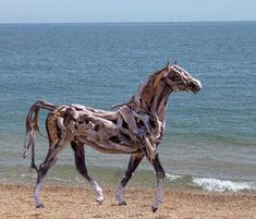 Horses made of driftwood. Way cool!