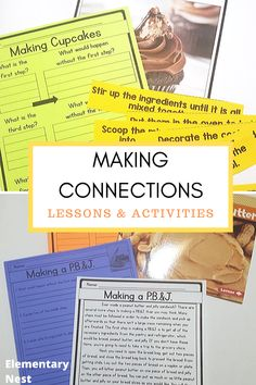Making Connections in a Nonfiction Text. This Exploring ELA post is about making connections in a nonfiction text. In this blog post I talk about buzz words and share my 5 Key Tasks for Teachers when it comes to teaching making connections. Learn more about how you can create you making connections in a nonfiction text lesson plans here. Fluency Activities, Grammar Activities, Reading Activities, Teaching Reading, Text To Text Connections, Making Connections, Apple Life Cycle, Text To Self, Common Core Ela