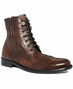 For Husband? Kenneth Cole Reaction Boots, Hit Men Cap Toe Lace Up Boots