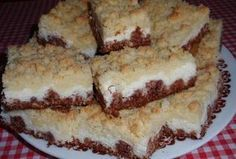 Drobenkový kokosový koláč s tvarohem Czech Recipes, Ethnic Recipes, Good Food, Yummy Food, Healthy Cookies, Sweet Cakes, Sweet Desserts, Nutella, Cake Recipes