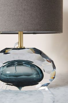Mara Faceted Table Lamp by Anthropologie in Grey, Lighting Grande Lampe, Chandelier Art, Futuristic Furniture, Electrical Outlets, Drawer Knobs, Unique Lighting, Modern Chairs, Light Fixtures, Bulb
