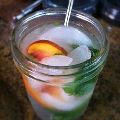 Nectarine Caipirinha - Happy birthday Forkly! Cheers! #forklys1st