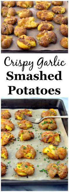crispy garlic smashed potatoes crispy garlic smashed potatoes a simple ...