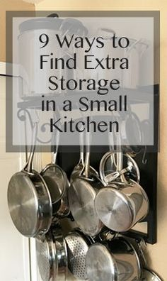 9 ways to find extra storage in a small kitchen | kitchen organization | kitchen storage | kitchen decor | kitchen tips | small house | small home | old house | old home