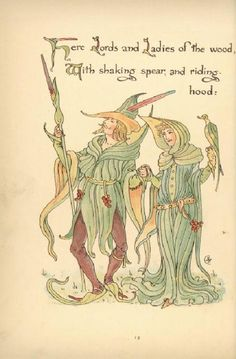 Flora's Feast (1889) p. 12 by Walter Crane  (A Fairy's Festival of Flowers)