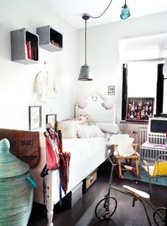 Inside a Collected Home with a Vintage Industrial Mix via @domainehome